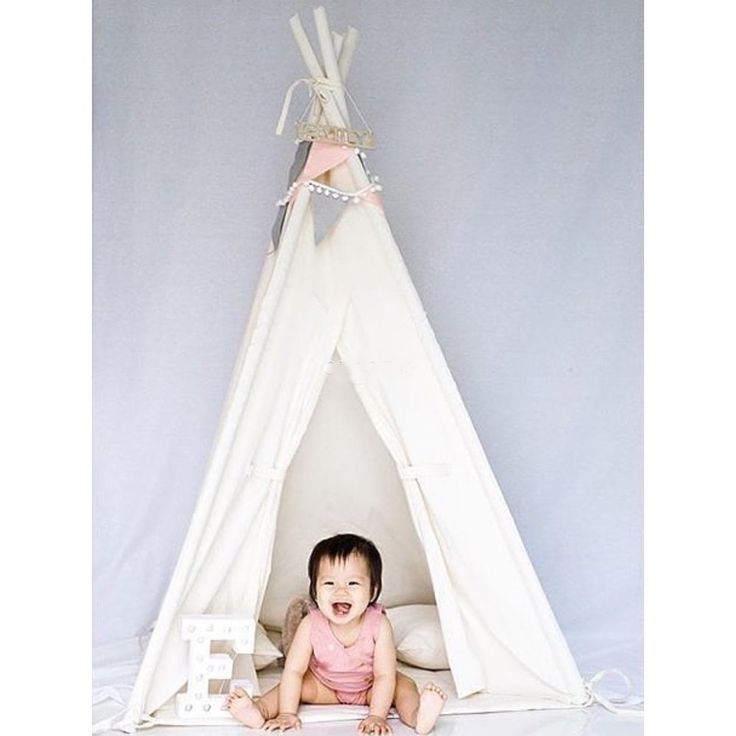 AmazonSmile: Free Love White Kids Play Tent Indian Teepee Children Playhouse: Toys & Games