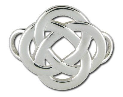 Sterling Silver Celtic Knot Charm/Clasp For A Cape Cod Convertible Bracelet  By LeStage.