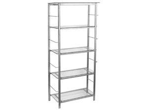 NEUMOBEL - Librero 70x30x150cm metal/vidrio clear.