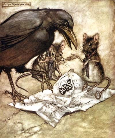 Arthur Rackham, illustrations of Grimm's Fairy Tales {which one?}                                                                                                                                                                                 More