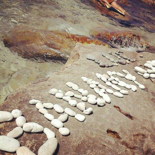 LUCowe typo z kamieni na plaży we Fiolencie, Krym ( http://instagram.com/p/c_K-P0uB5_/)