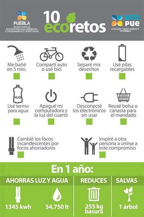 #Invitación 10 #ecoretos para cambiar nuestro entorno mejorando nuestros hábitos.
