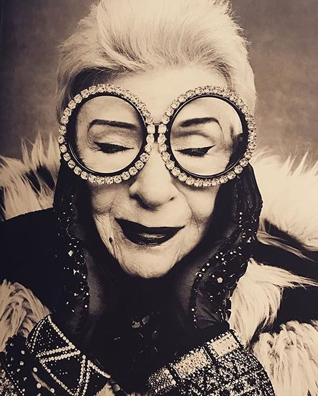 "46.8k Likes, 730 Comments - Iris Apfel Official (@iris.apfel) on Instagram: ""The Eccentrics Photo credit: Rufen Afanador"""