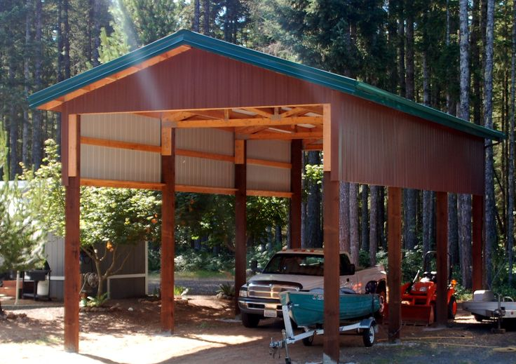 1000 images about camper and boat carport ideas on for Garage pole cover
