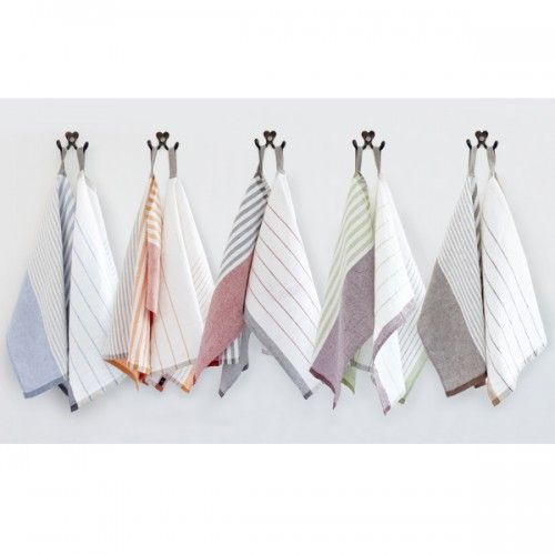 Linen Kitchen towels, French Stripe