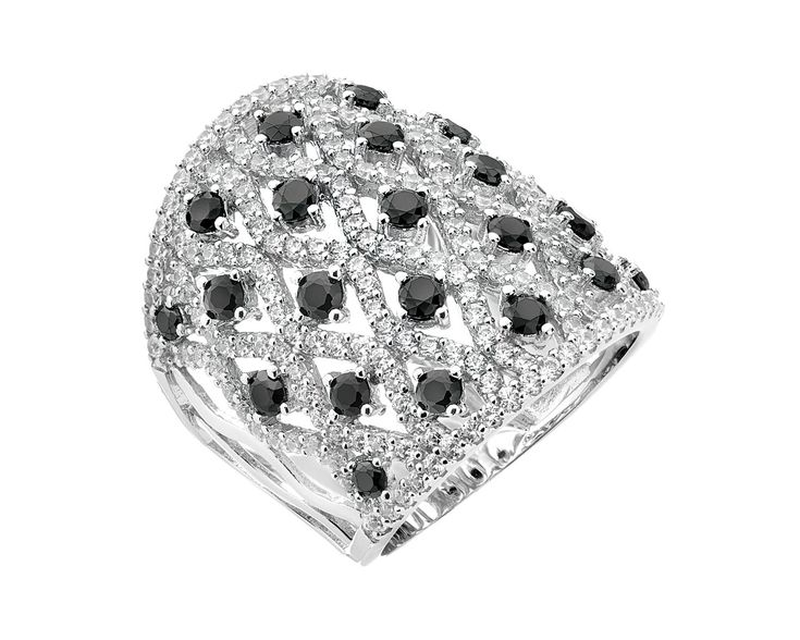 Pierścionek srebrny z cyrkoniami - wzór AP126-8576 / Apart