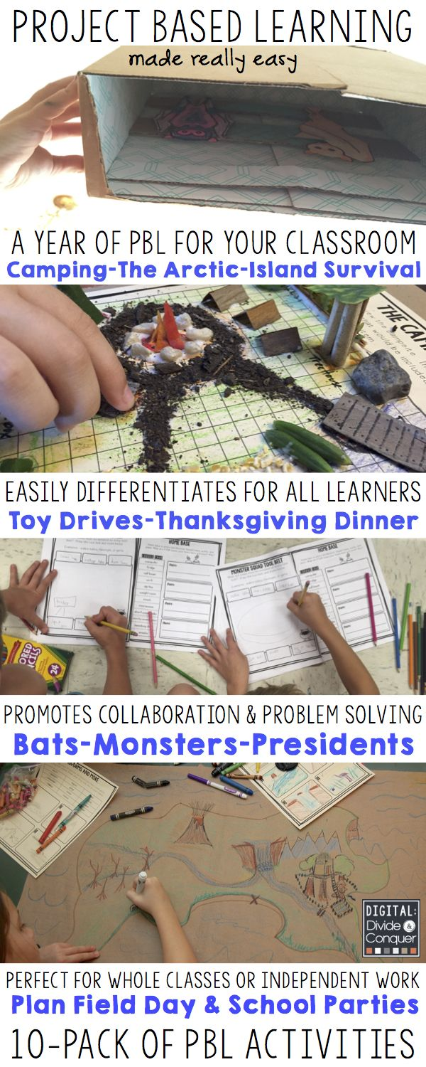 Keep your classroom engaged and alive with a 10-pack project based learning activities you can use all year. From monsters and bats to surviving in the arctic or a deserted island, there's always something new! These PBLs are no-prep and easy to use across all academic areas and learners. Encourage problem solving, collaboration, and creativity all year. $