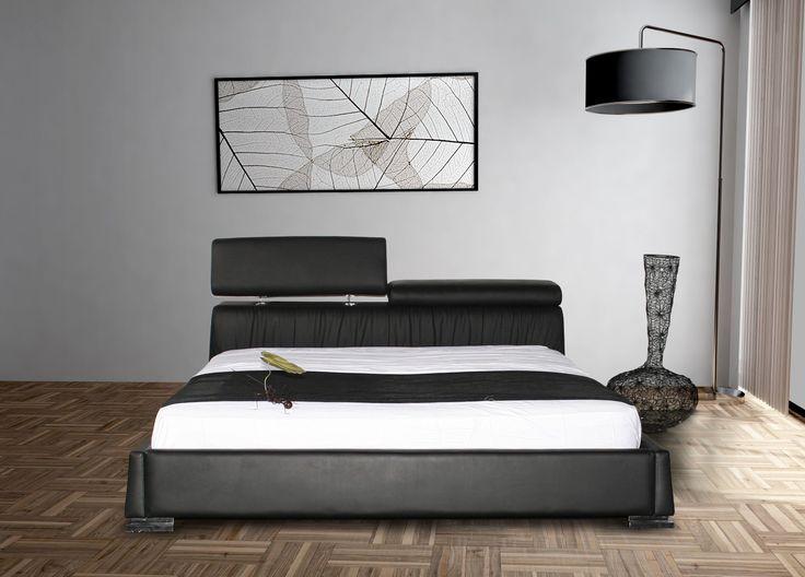 Casabianca Furniture Angel Platform Bed Finish: Black Leather    CB/K6617 KBL
