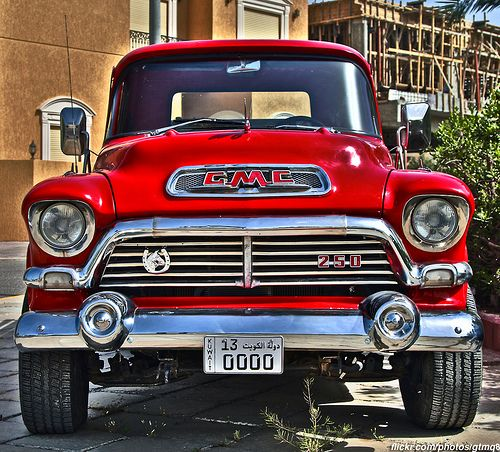 """1955 GMC Model 250 Pickup  -  I had a 1956 GMC Model 100 that was a 1/2 Ton model (with a 3/4 Ton Chevy frame)!  This was before the GMC V6 came along, so the old venerable but very tough 270 cubic inch GMC (Jimmy) straight six was the base engine, It was advertised as making 120 hp at 3200 rpm(!). Lovers of """"Low-RPM"""" engines (""""Torque-Masters"""") need not look any further. This 270 engine was substantially bigger than the Chevy (216 or optional 235) six. It could be bored out to 300 cubic…"""