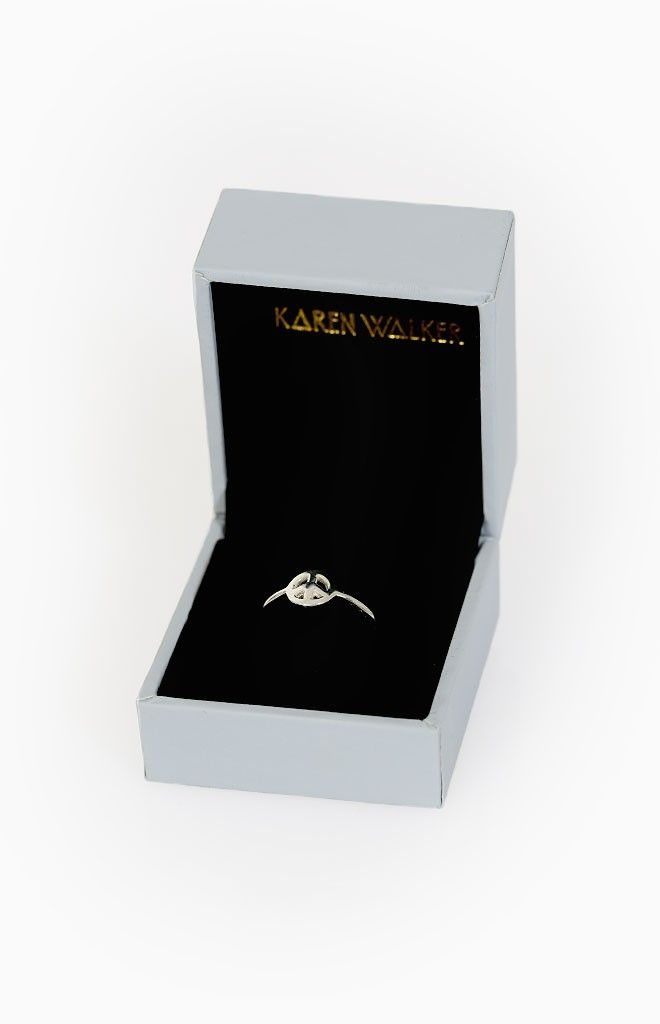Karen Walker Mini Peace Ring - shop it here: http://beginningboutique.com.au/karen-walker-mini-peace-ring