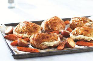Herb & Garlic Roast Chicken with Balsamic Vegetables recipe