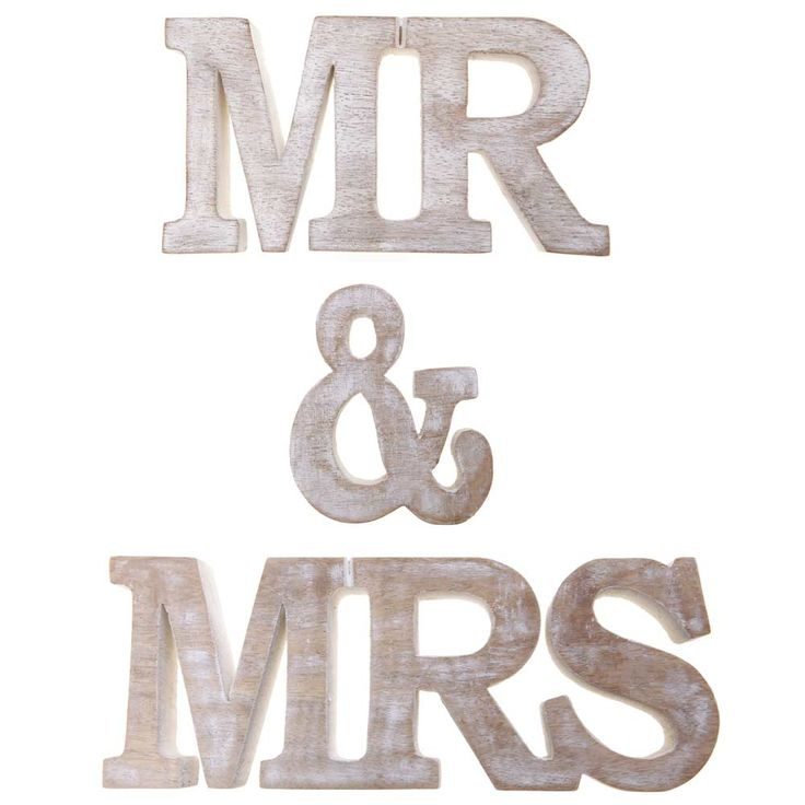 "Make a statement with our beautiful ""Mr & Mrs"" wooden words set. Made from sustainable mango wood, this standing decoration will look lovely at a wedding or in the bedroom."