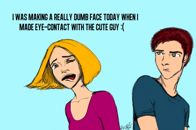 this happened to me yesterday: Weird Faces, Worse Th Teacher, Eye Contact, Funny Bones, Faces Today, Cute Guys, Dumb Faces