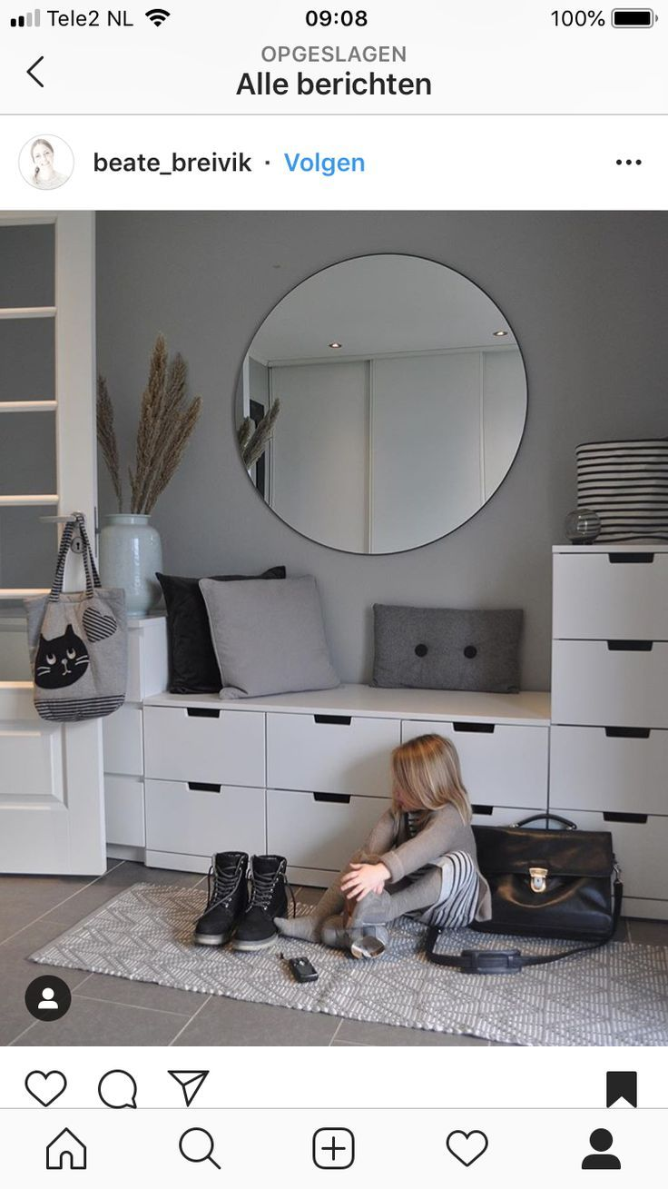 Ikea Completely Completes The M2 Of This White And Gray Hall With Some Mit Bildern Abstellraum Im Flur