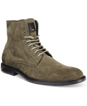 Hugo Boss Orange Men's Cutro Zip Boots - Green 13