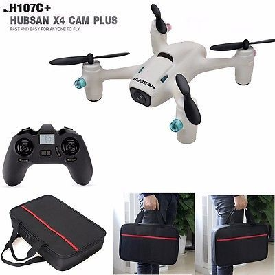 ﹩69.99. Hubsan X4 Plus H107C+ 2.4G Quadcopter Drone Headless Mode 720P Camera+Carry Bag    Power Source - Electric, Scale - 1/16, Assembly Required? - Ready-to-Run, State of Assembly - Ready-to-Go, Fuel Source - Electric, Year - 2015, Gender - Boys  Girls, Type - Drone, UPC - 6922572410732