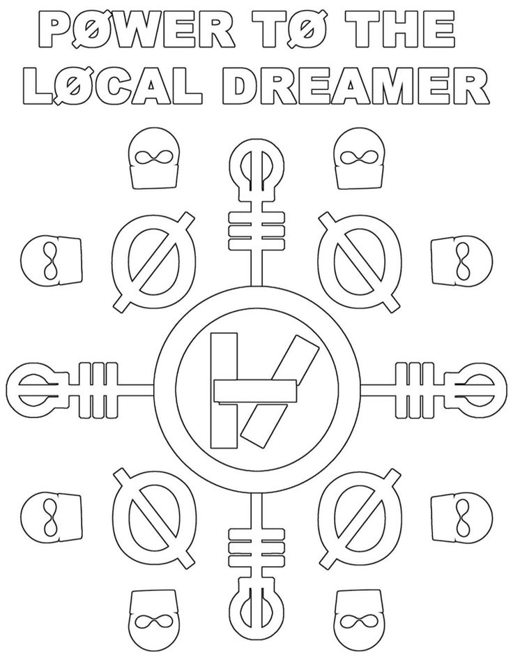 Twenty one pilots logo coloring pages for Twenty one pilots coloring pages