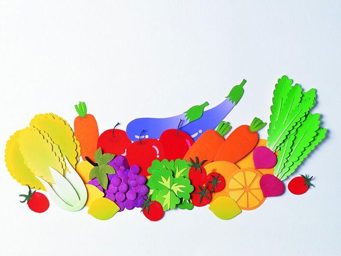 близко фрукты из цветной бумаги аппликация яке питання сьогодні