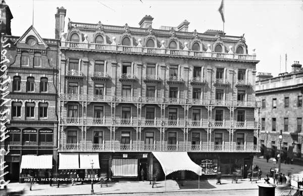 Metropole Hotel before the 1916 Rising- Penneys stands on this O'Connell St site today.