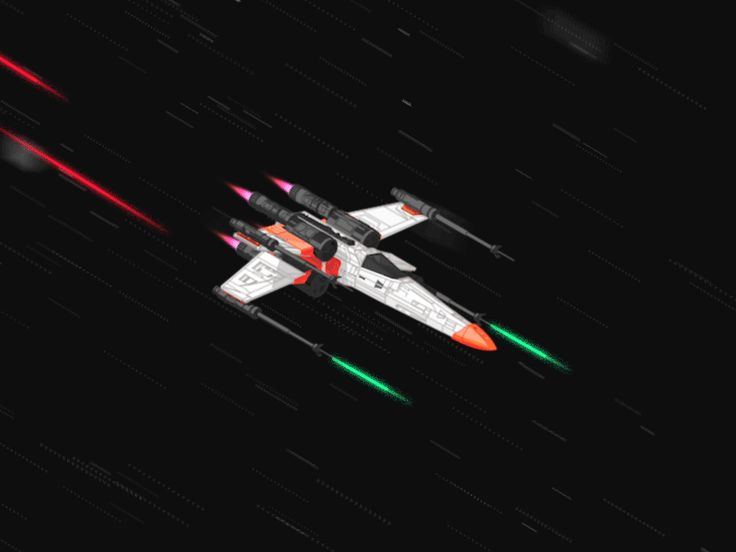 X-Wing vs. Tie Fighters !!! Unfortunately couldn't add some explosions, because of the .gif limitations. Enjoy! ;)
