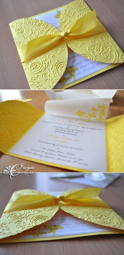 Hecho a mano porción Meda: Invitaciones de boda Hechos a mano