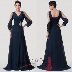 Pohádkově modré večerní šaty