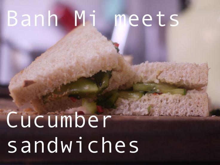 banh mi meets cucumber sandwiches