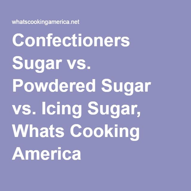 Confectioners Sugar vs. Powdered Sugar vs. Icing Sugar, Whats Cooking America