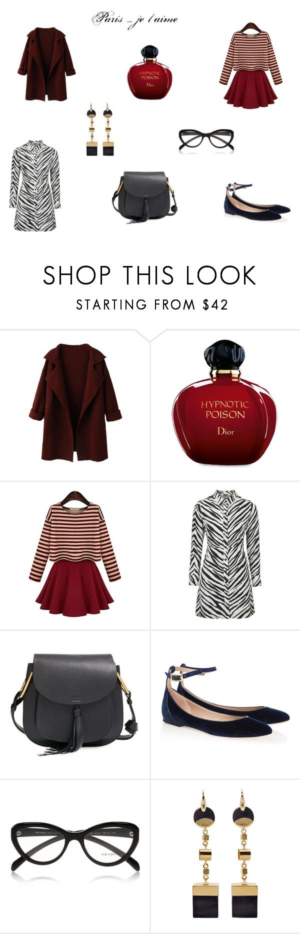 """""""Paris....je t'aime"""" by mousouza on Polyvore featuring Christian Dior, Topshop, Chloé, Prada and Isabel Marant"""