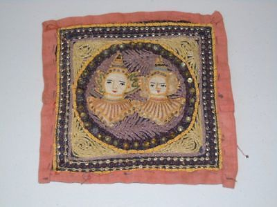 Estate Pickers Asian Malaya Antique 19th Century Hand Beaded Tapestry