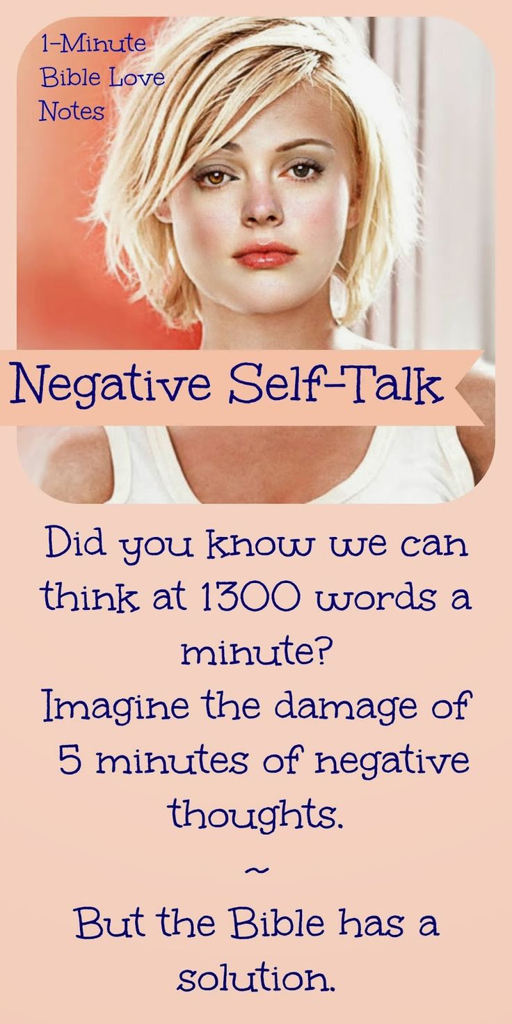 "The Power of Negative Self-Talk Studies show our normal rate of talking is 120 WPM, but we can think at a rate of 1,300 WPM. 2 Corinthians 10:5 says, ""We demolish arguments and every pretension that sets itself up against the knowledge of God, and we take captive every thought to make it obedient to Christ"" (NIV) Subscribe to Bible Love Notes"