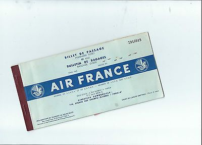 Oversized air france airlines 1952 #ticket + 4 sas #baggage claim stubs #attached,  View more on the LINK: 	http://www.zeppy.io/product/gb/2/321981762157/