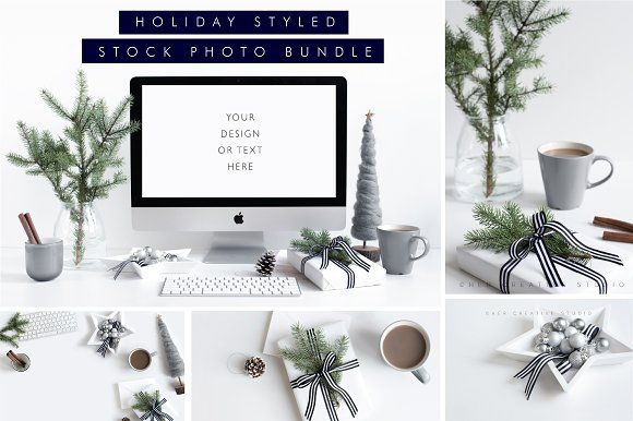 Holiday Styled Stock Bundle Grey by Her Creative Studio on @creativemarket