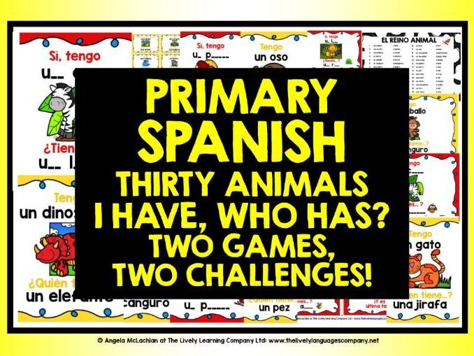 Primary Spanish Animals I Have Who Has With Images Spanish Animals Spanish Teaching Spanish