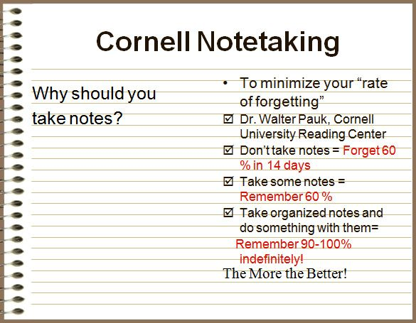 The 25+ best Cornell notes pdf ideas on Pinterest Cornell image - cornell note taking template