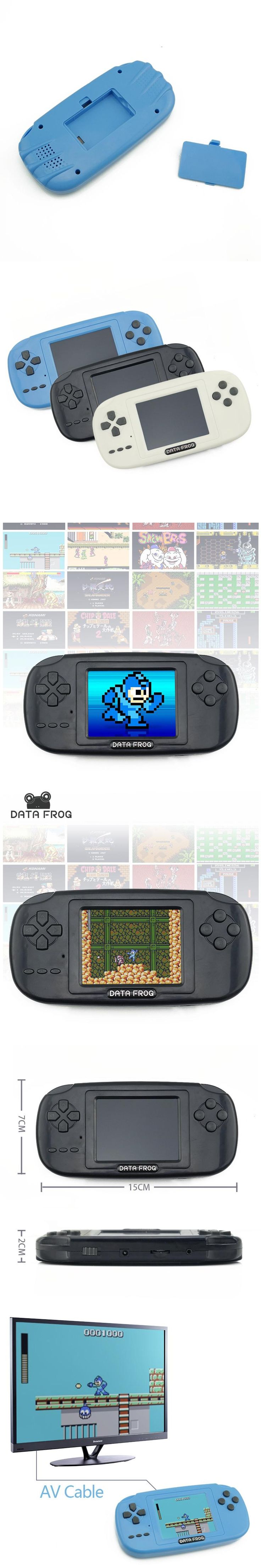 Game coolers portable - Data Frog Handheld Game Players With 168 Built In Games 3 Inch Screen Game Console 8bit