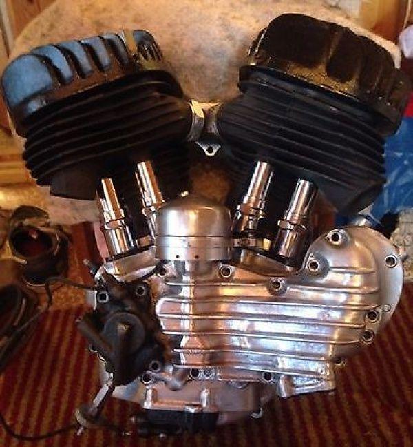Vintage HARLEY FLATHEAD engine motor 45 WLA WL WLC VL UL ...