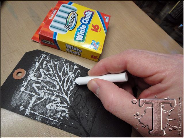 #papercraft #chalkboard from ink #tutorial  Tim Holtz: 12 tags of 2013 - November