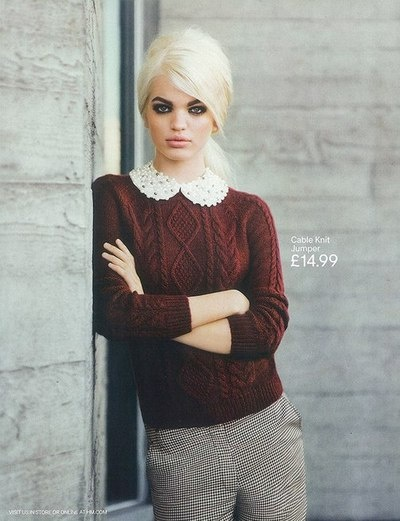 Daphne Groeneveld 2012: Cable Knit Sweaters, Outfit Style Hair Inspirations, Fall Winter Fashion, Style Inspiration, Clothes Style Fashion, Peter Pan Collars, Daphne Groeneveld, Fall 2012, Fall Sweaters