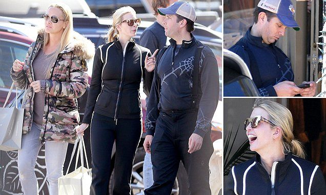 SECURITY SECRET SERVICE DOLLARS AT WORK!!!!!! Ivanka and Donald Jr hit Aspen for a family vacation   Daily Mail Online