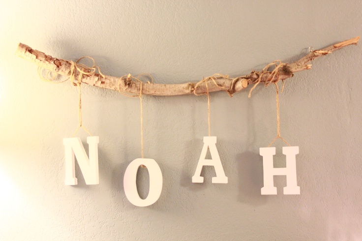 4 Letters Custom Tree Branch Mobile by MommysChicBoutique on Etsy. $45.00, via Etsy.