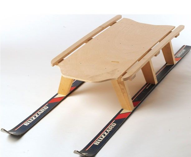 Build a Ski Sled from old ski gear