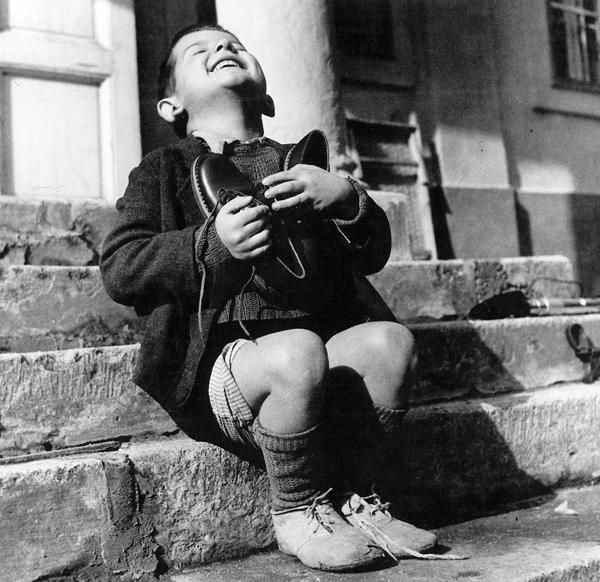 Austrian Boy With New Shoes