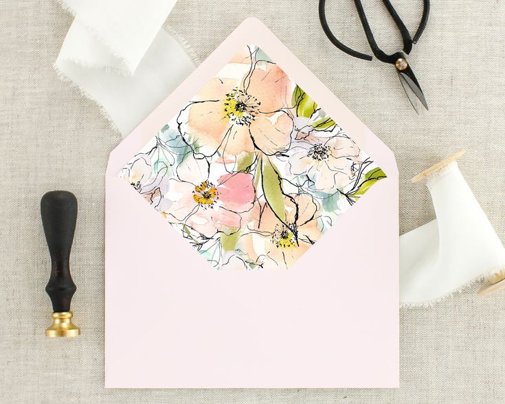Floral Envelopes for Invitations - Envelopes for Wedding Invitations - Lined Envelopes - Envelopes With Liner - Wedding Envelopes and Liners by MargauxPaperie on Etsy