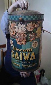grande-scatola-bidone-di-latta-litografato-biscotti-SAIWA-primi-del-900
