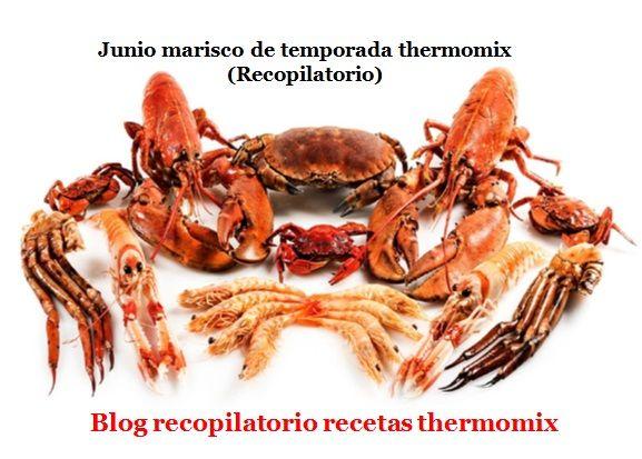 Recopilatorio de recetas thermomix: Junio marisco de temporada 2017 thermomix (Recopilatorio)