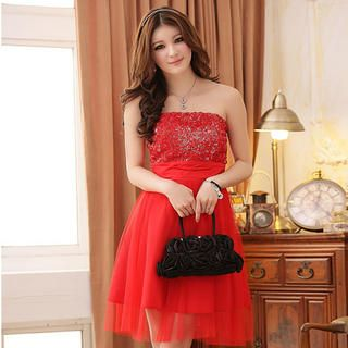 Buy 'JK2 – Rosette Front Tulle Cocktail Dress' at YesStyle.com plus more China items and get Free International Shipping on qualifying orders.
