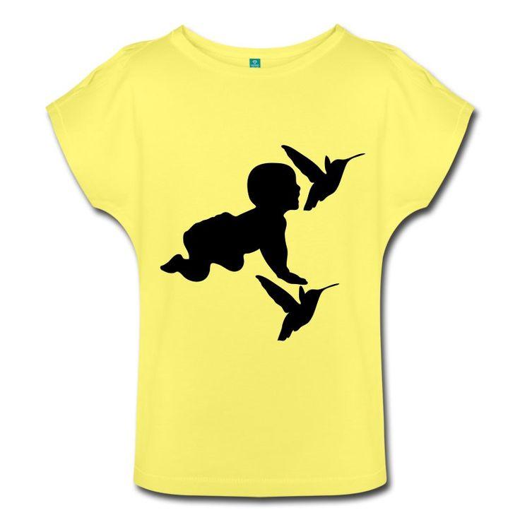 Baby Birds - schönes Motiv eines Babys mit Kolibris auf hochwertigen Shirts und Geschenken. #baby #babies #familie #kind #kinder #vögel #kolibri #geburt #eltern #shirts #geschenke