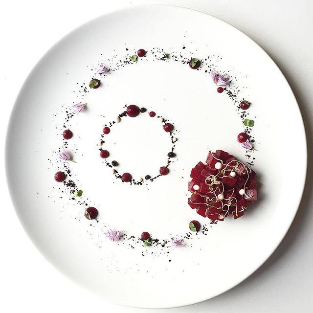 """""""Beetroot Tartar"""" Beautiful work of art by @royalebrat #GourmetArtistry"""
