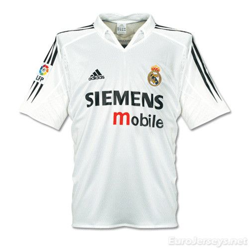 $16 Eurojerseys.net camiseta de fútbol Real Madrid 04-05 Home Retro Football Shirt Soccer Jersey maillot de foot